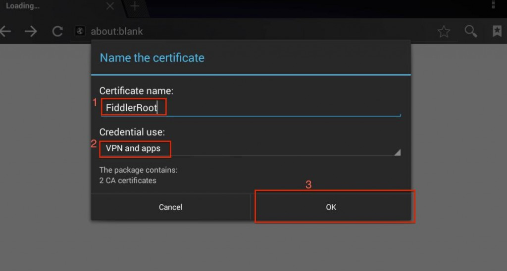 android install certificate